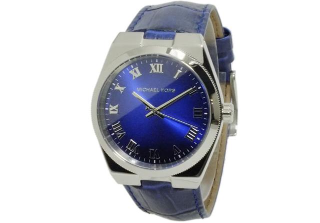 マイケルコース革バンド腕時計