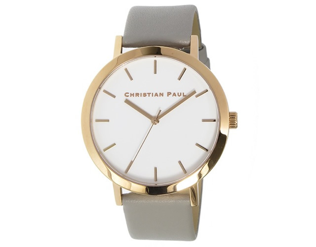 クリスチャンポール革ベルト腕時計