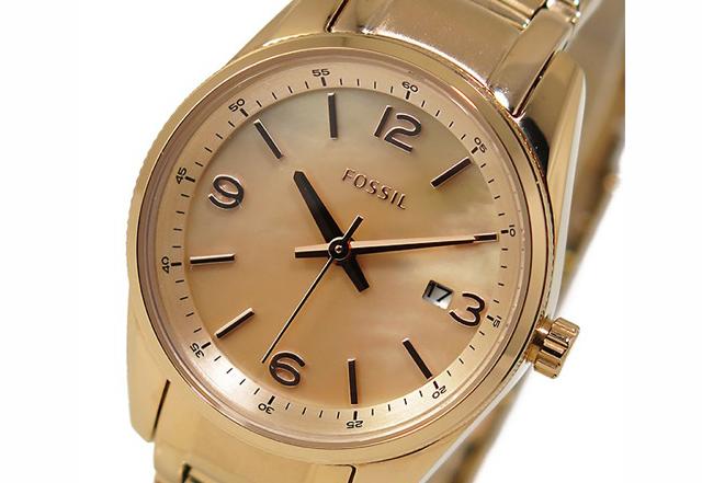 フォッシルメタルバンド腕時計