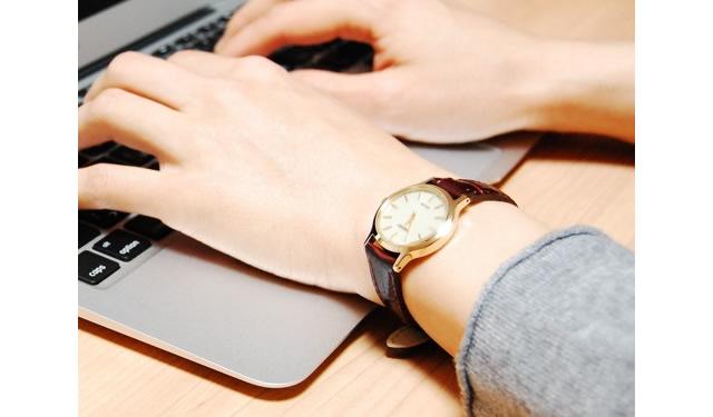 セイコー 革ベルト腕時計