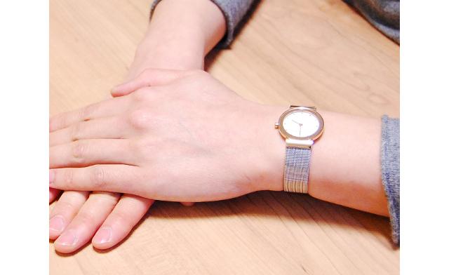 スカーゲンメタルバンド腕時計