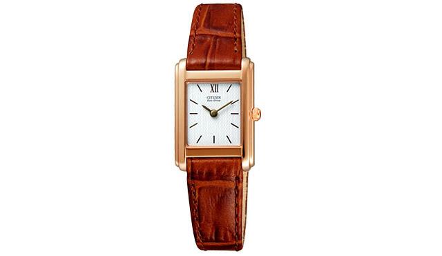 シチズン革バンド腕時計