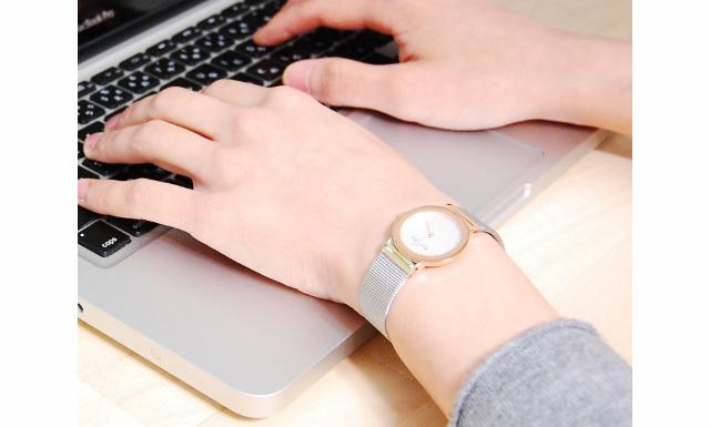 スカーゲン腕時計メタルバンド