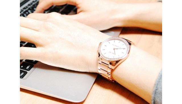 コーチ メタルバンド腕時計