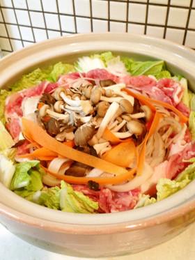 根菜野菜のリボン鍋