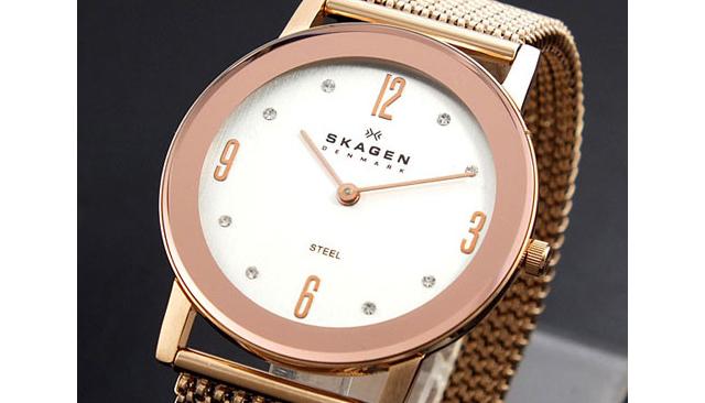 スカーゲンゴールド腕時計人気