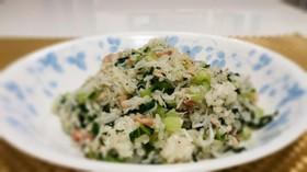 小松菜としらすのペッパー炒飯