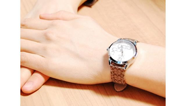 コーチ革ベルト腕時計