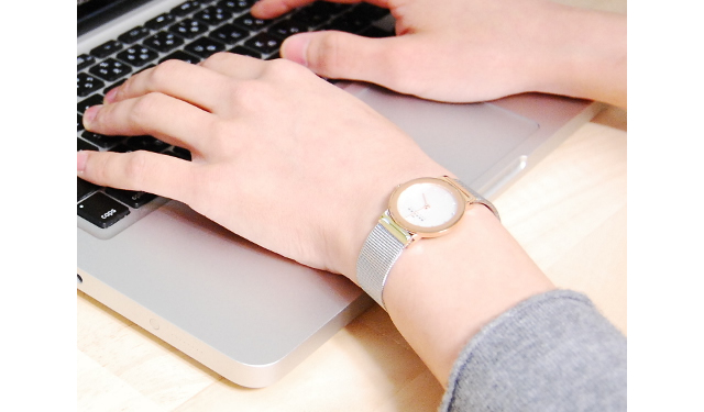 スカーゲン腕時計 メッシュベルト