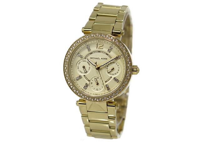 マイケールコースゴールド腕時計