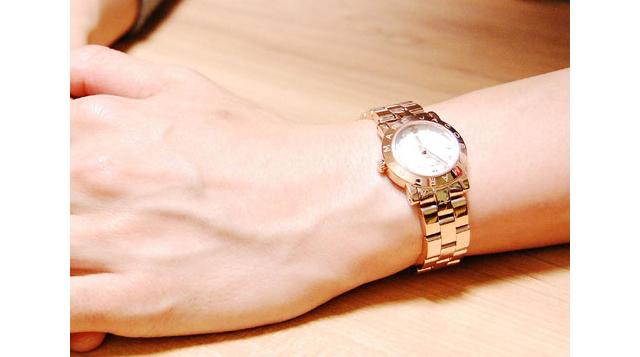 ゴージャスでシンプルなマークバイマークジェイコブス腕時計