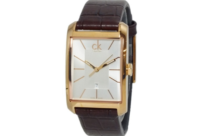 カルバンクライン革ベルト腕時計