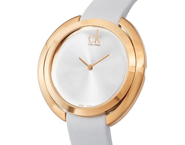 カルバンクライン 革ベルト腕時計
