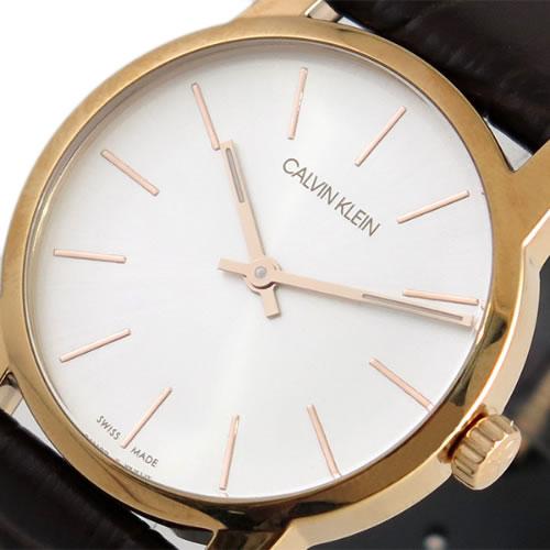 カルバンクライン CALVIN KLEIN 腕時計 レディース K2G23620 シティー CITY クォーツ シルバー ブラウン がおすすめ!