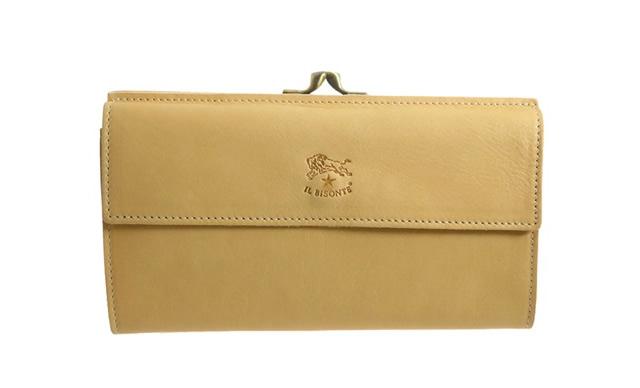 シンプルだけど形がかわいいイルビゾンテ財布