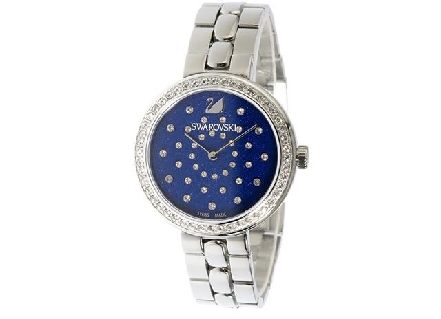 スワロフスキー メタルバンド腕時計