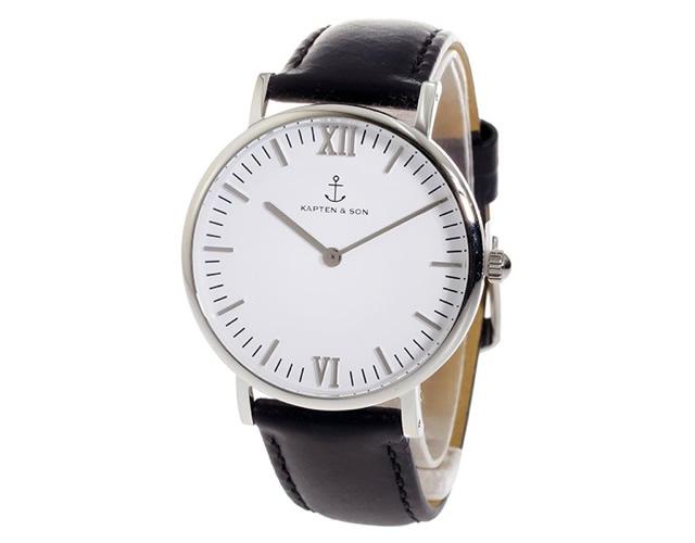 キャプテンアンドサン腕時計SV-KS36WHBKL