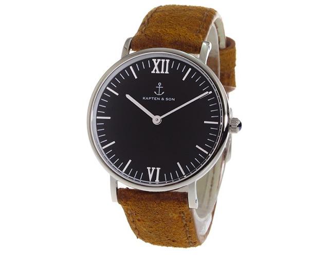 キャンプテンアンドサン腕時計SV-KS36BKBRV