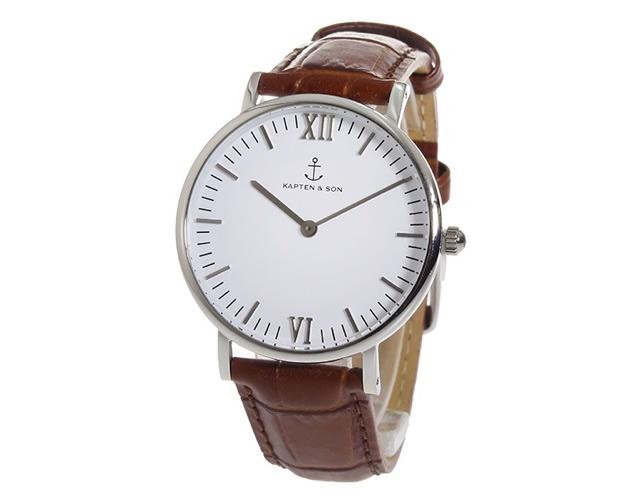 キャンプテンアンドサン腕時計SV-KS36WHBRCL