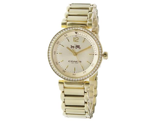 女性らしい中にも力強さを感じさせる腕時計