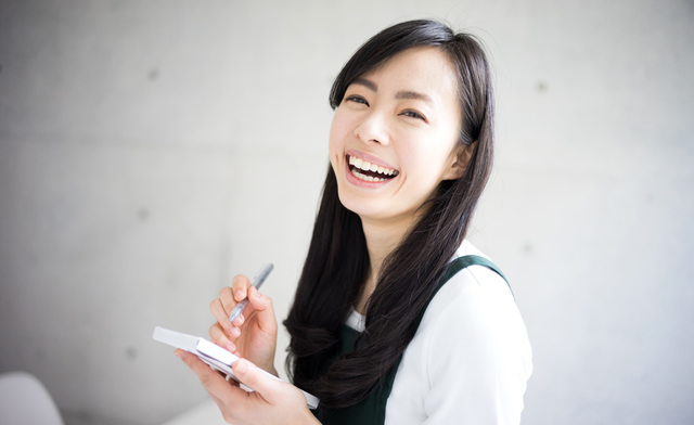 笑顔が素敵で、表情も豊か