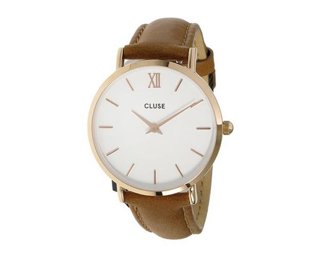 クルース革ベルト腕時計