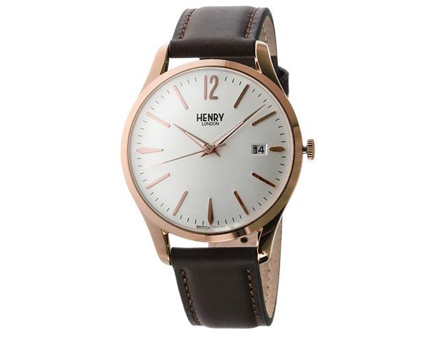 ヘンリーロンドン革ベルト腕時計