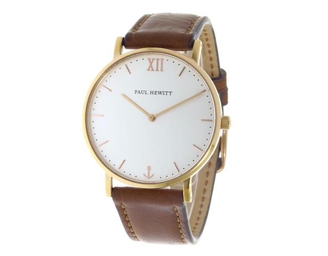 ポールヒューイット革ベルト腕時計