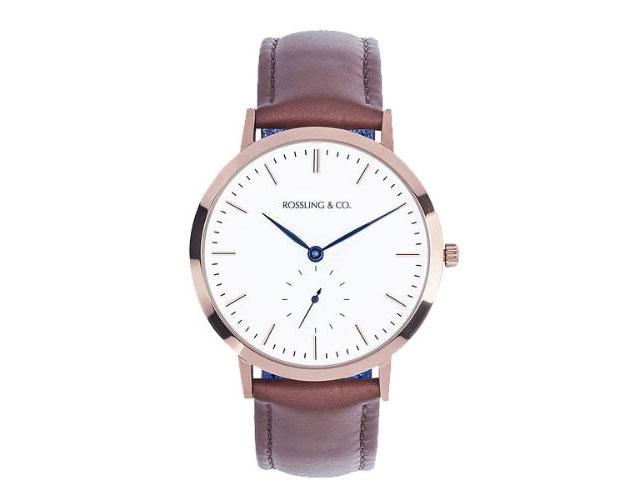 ロスリング革ベルト腕時計