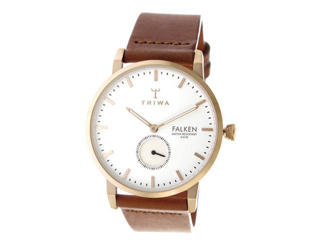 トリワ革ベルト腕時計