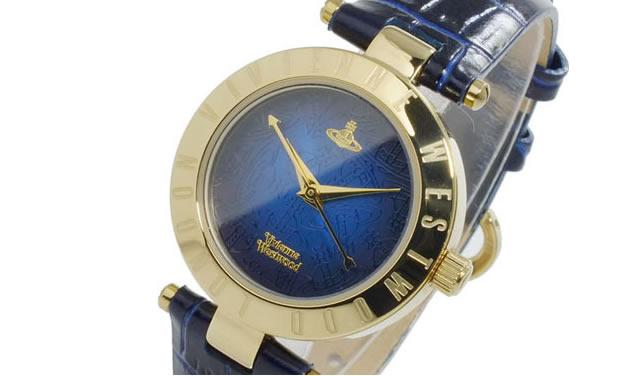 ヴィヴィアン革ベルト腕時計