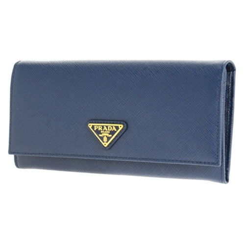 プラダ 長財布 レディース 1MH132S_TRIAN-BLU