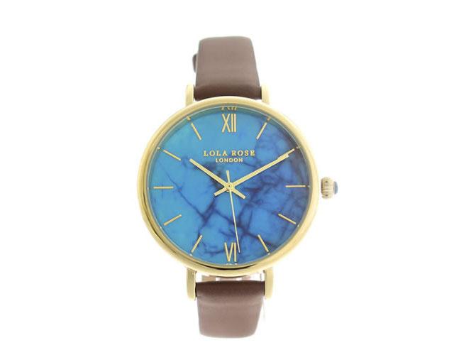 ローラローズ革ベルト腕時計