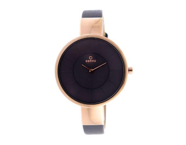 オバク革ベルト腕時計