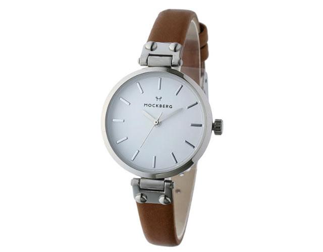 モックバーグ革ベルト腕時計