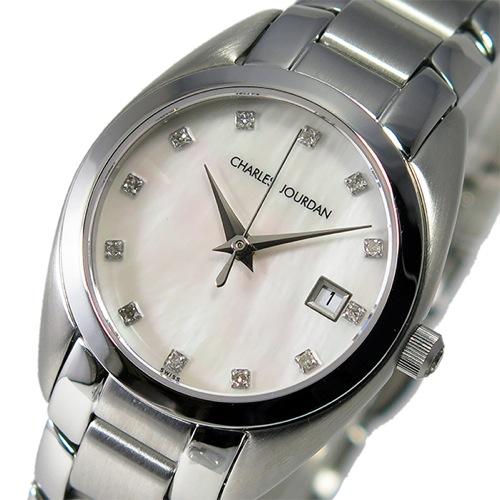 シャルル ジョルダン クオーツ レディース 腕時計 100.22.6 シェルホワイト