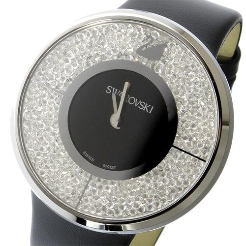 スワロフスキー クリスタルライン クオーツ レディース 腕時計 1135988 ブラック/クリア