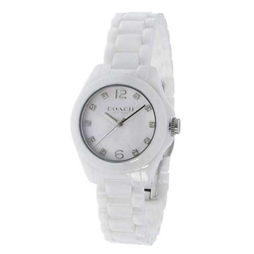 コーチ トリステン ミニ セラミック クオーツ レディース 腕時計 14502154 ホワイトシェル