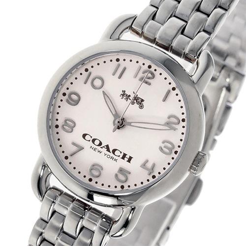 コーチ COACH デランシー DELANCEY クオーツ レディース 腕時計 14502276 ホワイト/シルバー