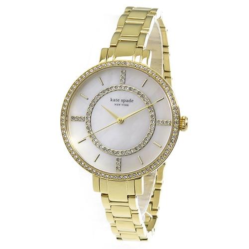 ケイトスペード クオーツ レディース 腕時計 1YRU0692 ホワイトシェル