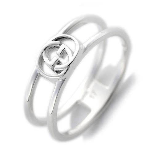 グッチ レディース リング 指輪 JP22号 298036-J8400/8106/23 シルバー