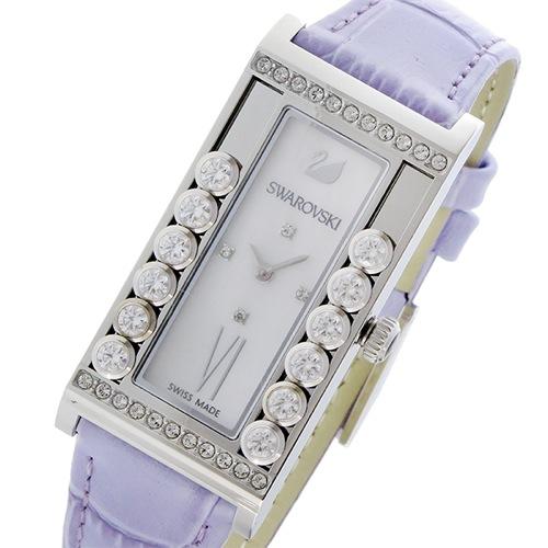 スワロフスキー ラブリークリスタルズ スクエア クオーツ レディース 腕時計 5096684 シェル