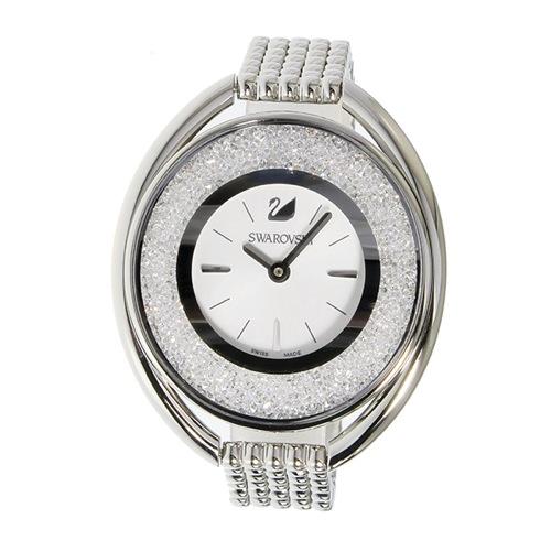 スワロフスキー SWAROVSKI クリスタルライン・オーバル クオーツ レディース 腕時計 5181008 シルバー
