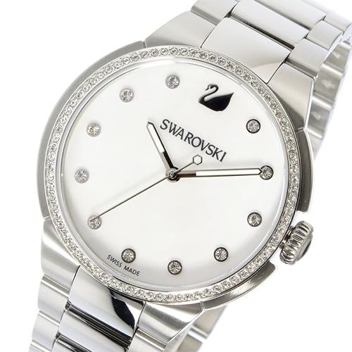 スワロフスキー SWAROVSKI シティ クオーツ レディース 腕時計 5181635 ホワイトシェル/クリアクリスタル