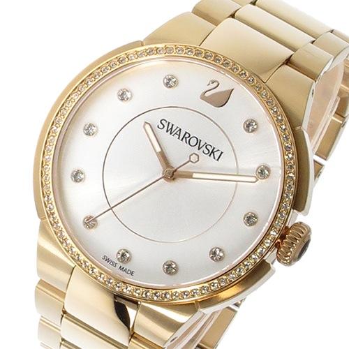 スワロフスキー シティ クオーツ レディース 腕時計 5181642 シルバー/クリアクリスタル