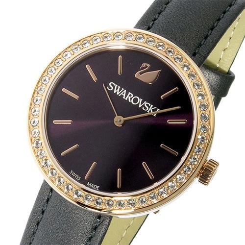 スワロフスキー SWAROVSKI クオーツ レディース 腕時計 5213671 バーガンディ