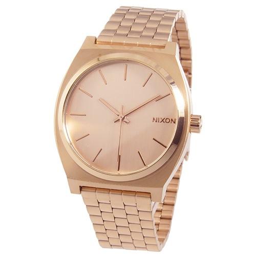ニクソン タイムテラー ユニセックス クオーツ 腕時計 A045-897 ローズ ゴールド