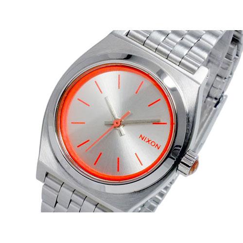 ニクソン スモール タイムテラー 腕時計 A399-1764 シルバー ネオン ピンク