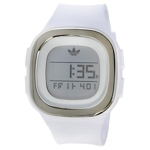 アディダス ADIDAS オリジナルス デンバー デジタル ユニセックス 腕時計 ADH3032 ホワイト/シルバー