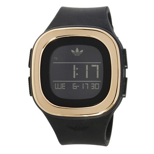 アディダス ADIDAS オリジナルス デンバー ユニセックス 腕時計 ADH3085 ブラック/ピンクゴールド